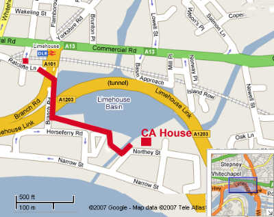 Limehouse map
