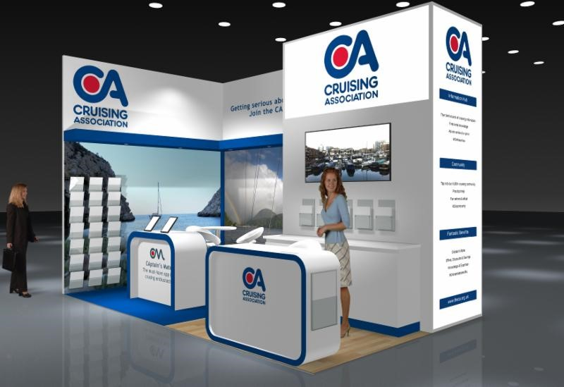 CA Boat Show stand graphic
