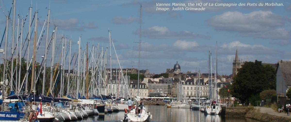 Vannes Marina, the HQ of La Compagnie des Ports du Morbihan