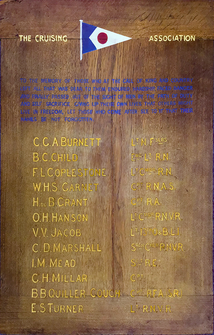 CA WW1 Memorial plaque